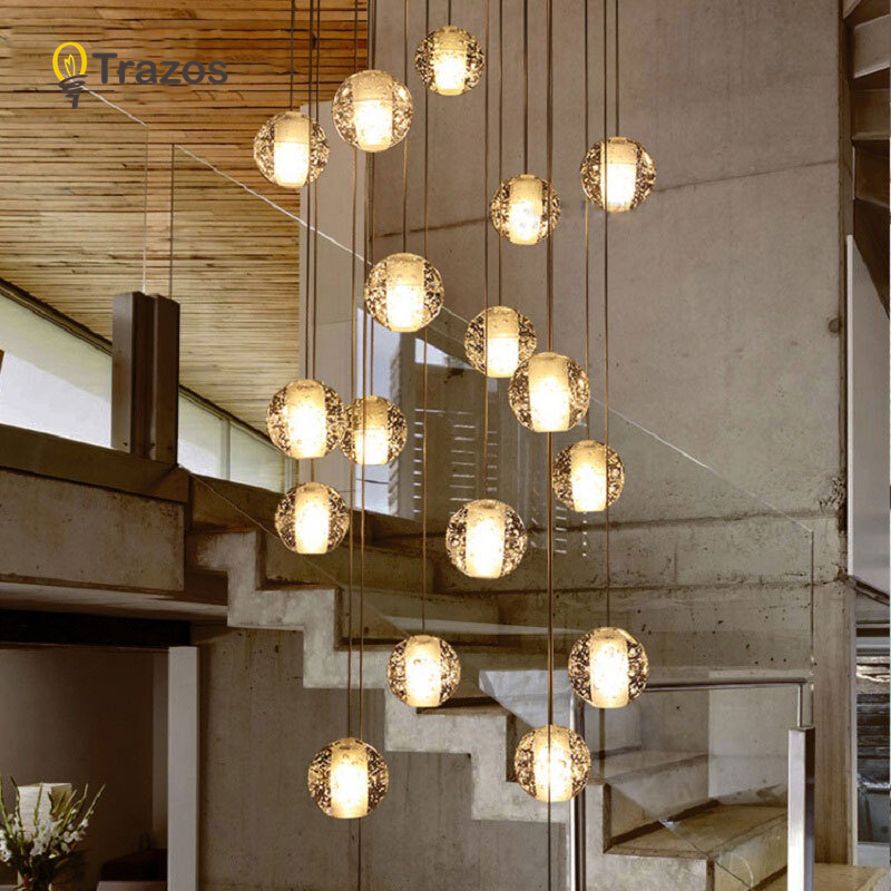 LED Chandeliers Lights Loft Coffee Bedroom Lighting Lustres E Chandeliers Para Sala De Jantar Modern Glass Pendant Lamps