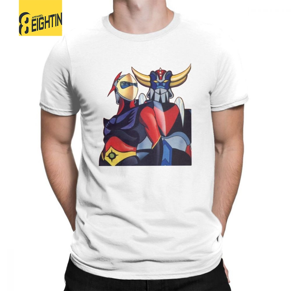 UFO Robot Grendizer Goldrake T Shirts Male 2018 New T-Shirts Colorful 100% Cotton Round Neck Tee Shirt Short Sleeves Over Size