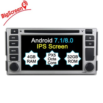 2 Din Android 8.0 RAM 4GB+32GB 8 Core Car Radio GPS Navi For Hyundai Santa Fe 2006-2012 Radio Satnav Headunit Stereo bluetooth image