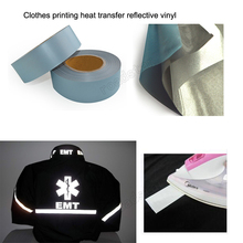 5cmx10m High quality clothes printing heat transfer reflective vinyl Free shipping free shipping heat transfer filme vinyl pu vinyl filme made in south korea four colors for shipping