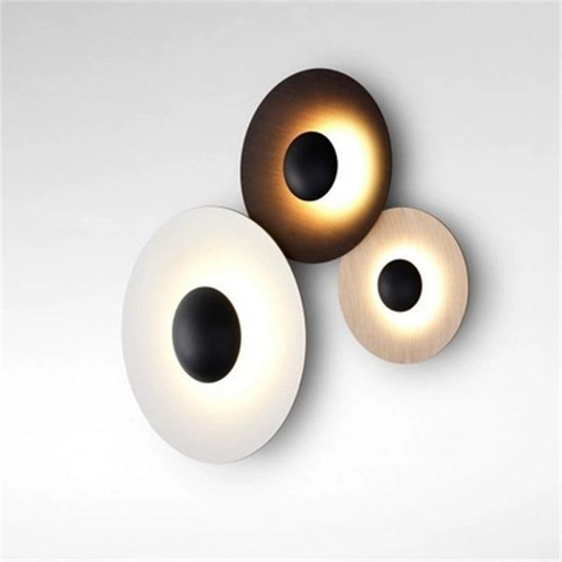 Işıklar ve Aydınlatma'ten LED İç Mekan Duvar Lambaları'de Iskandinav Tasarımcı Basit Postmodern Tarzı Duvar Lambası Yaratıcı Kişilik Eğilim Oturma Odası Yatak Odası Çalışma Koridor Duvar Aplik Smartle Lighting Store