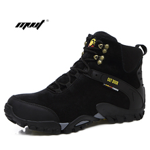 Men Ankle Boots Suede Leather Warm Winter Boots Outdoor Men Snow Boots Fashion Climbing men Winter Shoes