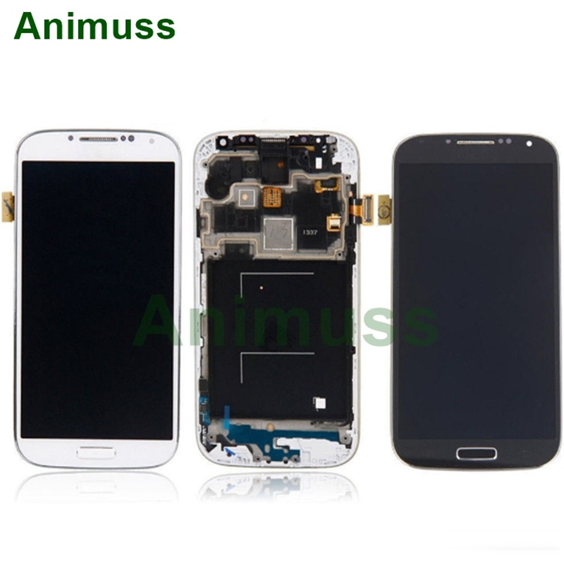ANIMUSS Applicable to Samsung S4 screen assembly mobile phone I9500 LCD display screen assembly LCD touch screen I9505