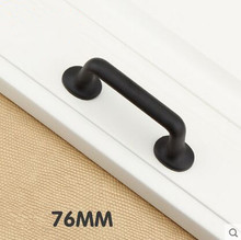 3″ Modern simple kitchen cabinet handles pull black dresser pull 76mm wardrobe drawer wardrobe furniture hardware handles pulls