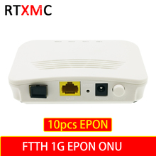 10pcs FTTH EPON ONU 1G LAN port EPON 1port ONU ONT 1.25G ONU ZTE Chipset FTTB  Fiber to home FTTB Single LAN Port