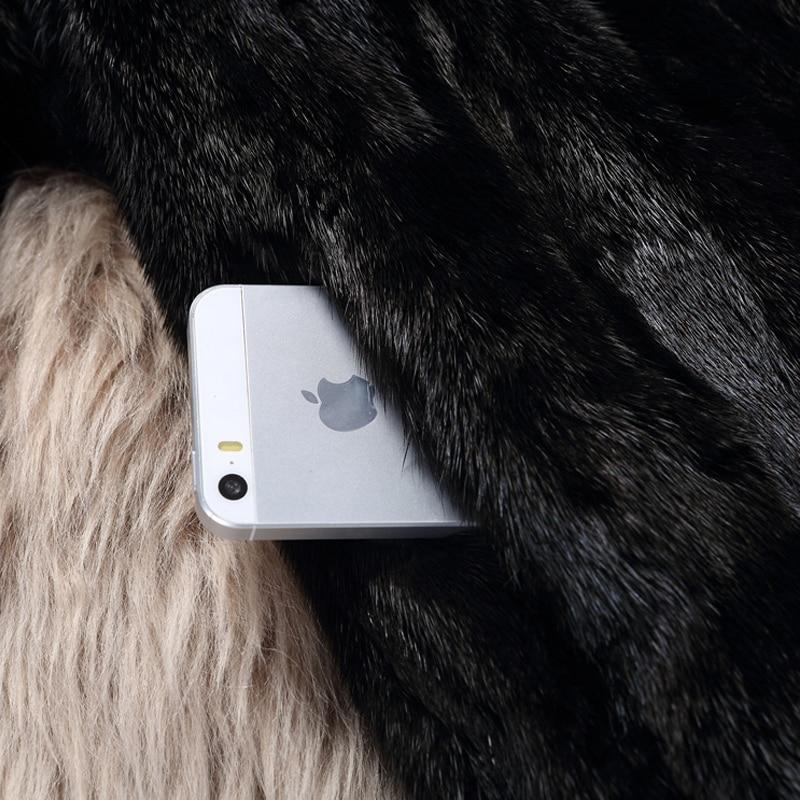 Fourrure Hiver Nouvelle Vison Haute Cou Sleeve Réel Vestes Quarter O Collection Sleeve Automne Long Femmes nine Qualité Full Naturelle Moyen Manteaux De 2018 6FFTtq