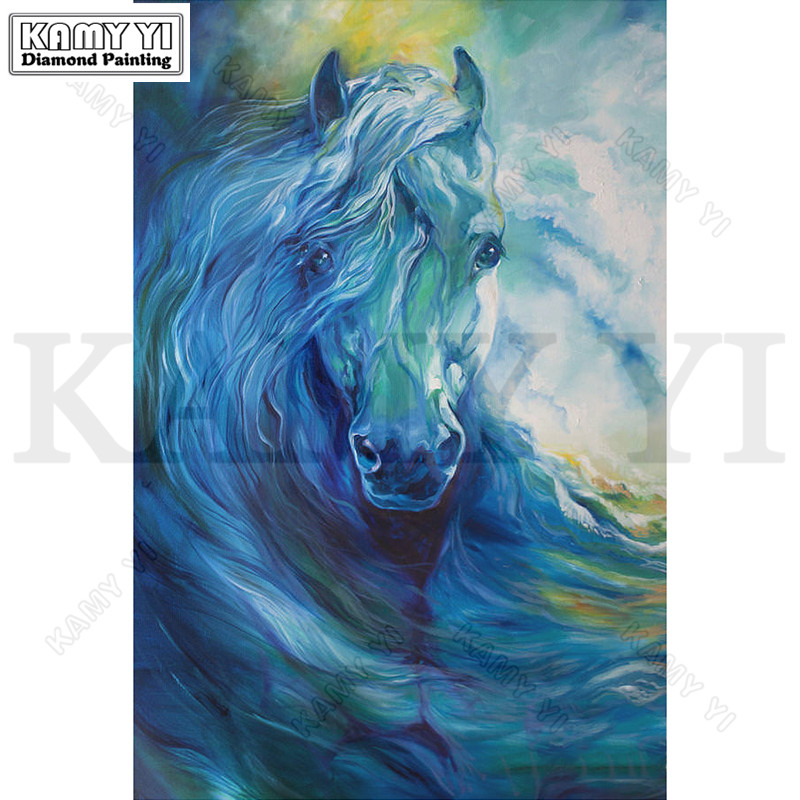 Full Square/Round Drill 5D DIY Diamond Painting Oil Horse 3D Embroidery Cross Stitch Mosaic Rhinestone Decoration Crafts