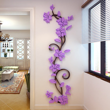 цены 3D Vase Flower Tree DIY Removable Art Vinyl Wall Stickers Decal Mural Home Decor For Home living room TV Background Decoration