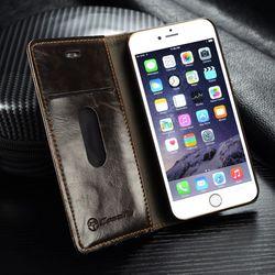 Original Brand Leather Case sFor Fundas Apple iphone SE 5 5G 5S Case iphone 6 6S case 6 6s Plus coque Wallet Flip Phone Cover 5
