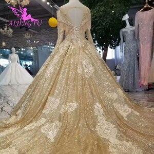 Image 2 - Aijingyuウェディングドレス女性のためのヴィンテージブライダル2021ロイヤル蝶除草花嫁自由奔放ウェディングドレスオンラインショッピング