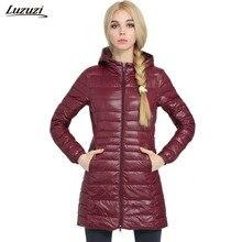 1PC Winter Down Jacket Women Slim Thin Long Coats Winter Coat Women Jaqueta Feminina Inverno Spring Autumn Hooded Outerwear Z589