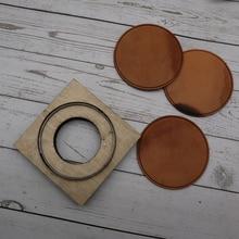 DIY leder handwerk tasse pad matte runde linie geprägt sterben schneiden messer form hand maschine punch werkzeug vorlage