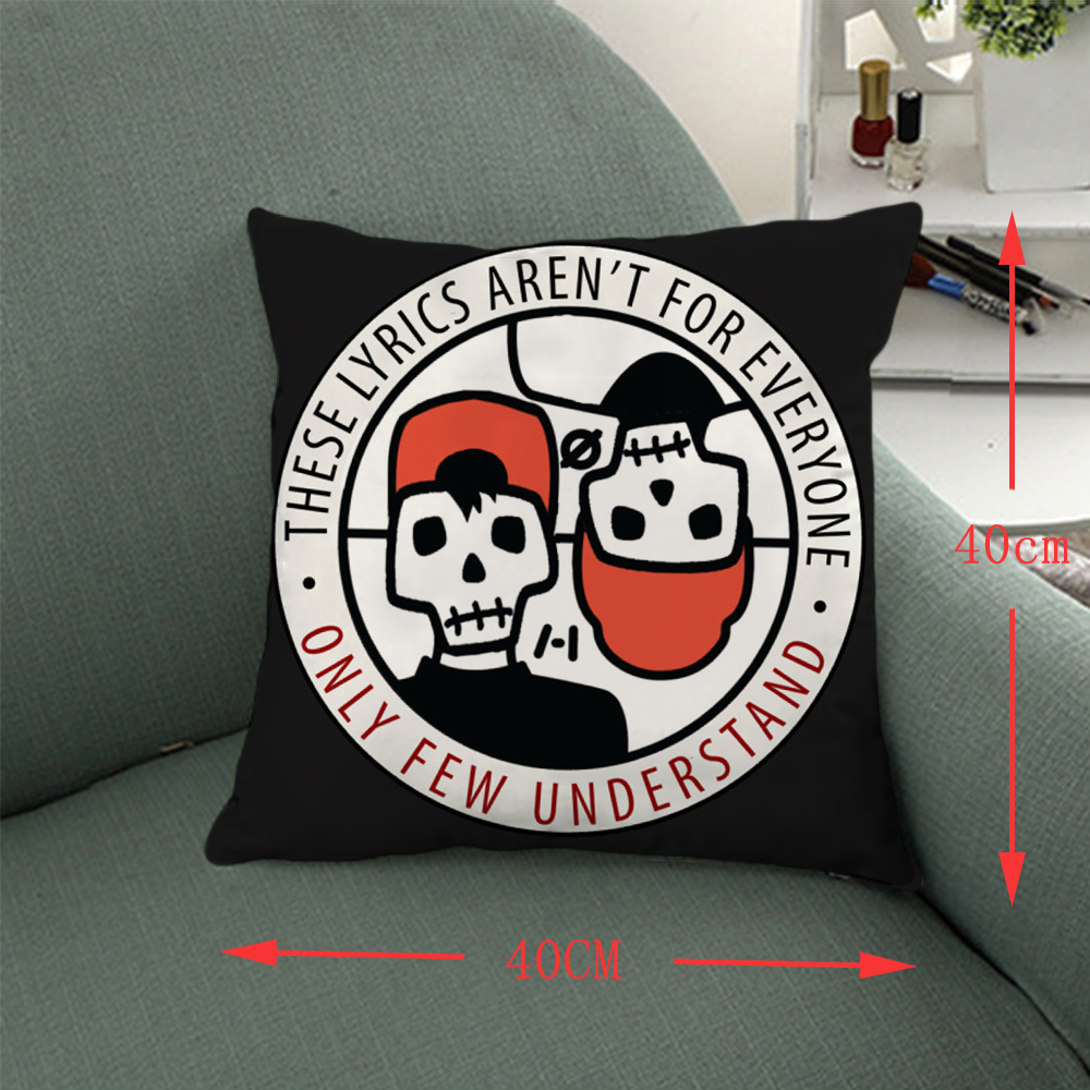 Giancomics 40*40 Hot Band Twenty one pilots Pillow Comfortable Pillow Case Household Furnishing Bolster Bedroom Home Decorative