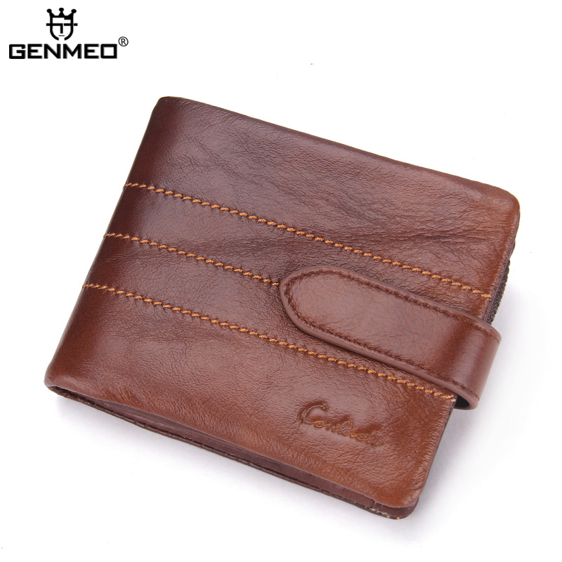 New Arrival Genuine Leather Wallets Men Cow Leather Clutch Bag Real Leather Wallet Credit Card Holder Female's Coin Purse Bolsa european modern bronze doors handle chinese antique glass door handle door handle carving