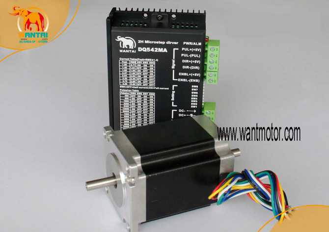 CNC 1Axis Nema23 Stepper Motor 57BYGH218 0.9N.m 2A SingleShaft 130oz-in 51mm+Driver DQ542MA engrave Milling Medical equipmentCNC 1Axis Nema23 Stepper Motor 57BYGH218 0.9N.m 2A SingleShaft 130oz-in 51mm+Driver DQ542MA engrave Milling Medical equipment