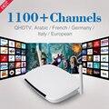 Europa Android Smart TV Box Media Player Com Frete 12 meses 1100 Canais de IPTV Europeu Itália Francês Árabe IPTV Turca caixa