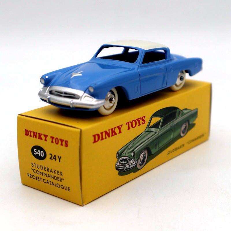 DeAgostini 1/43 Dinky jouets 540 24Y Studebaker Commander Projet Catalogue modèles moulés sous pression édition limitée Collection Auto jouets voiture