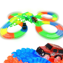 So Amazing Bend Flexible Curve Slot DIY Track Toy Set with glows in the Dark Track LED light Racing Car Toys for children kids kids rc car toy speed pipes racing track remote control building tubes diy set flash light baby educational toys for children page 4 page 5