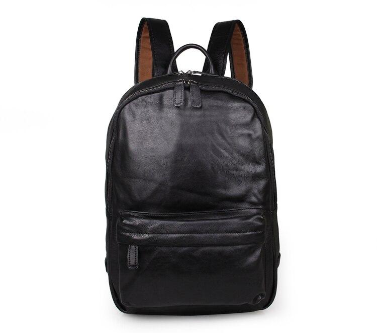 100% sacs à dos d'ordinateur portable en cuir véritable pour les adolescents # 7273A