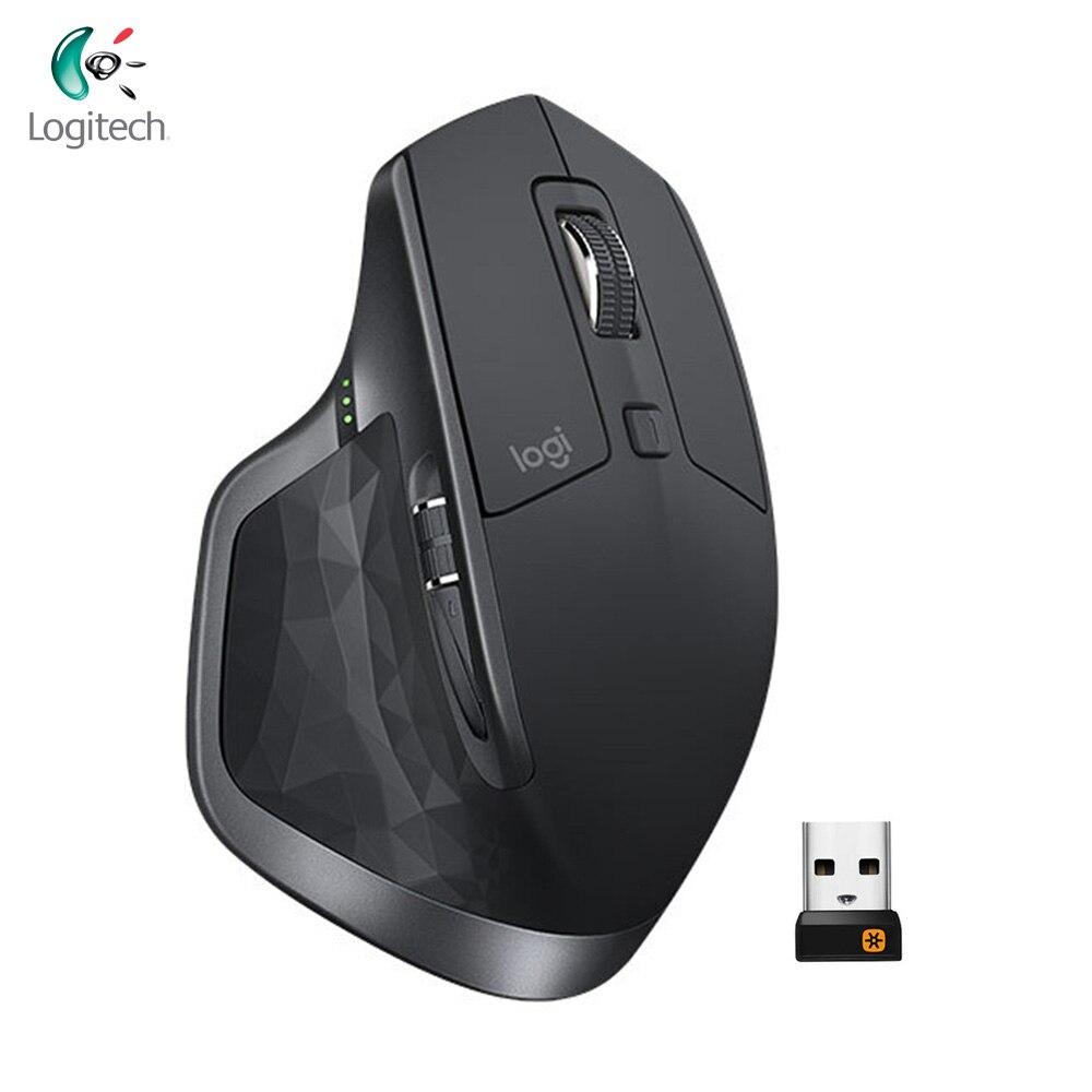 Souris de bureau Logitech MX Master 2 S 2.4 GHz sans fil et Bluetooth double connexion 4000 DPI souris d'ordinateur ergonomique multi-périphériques