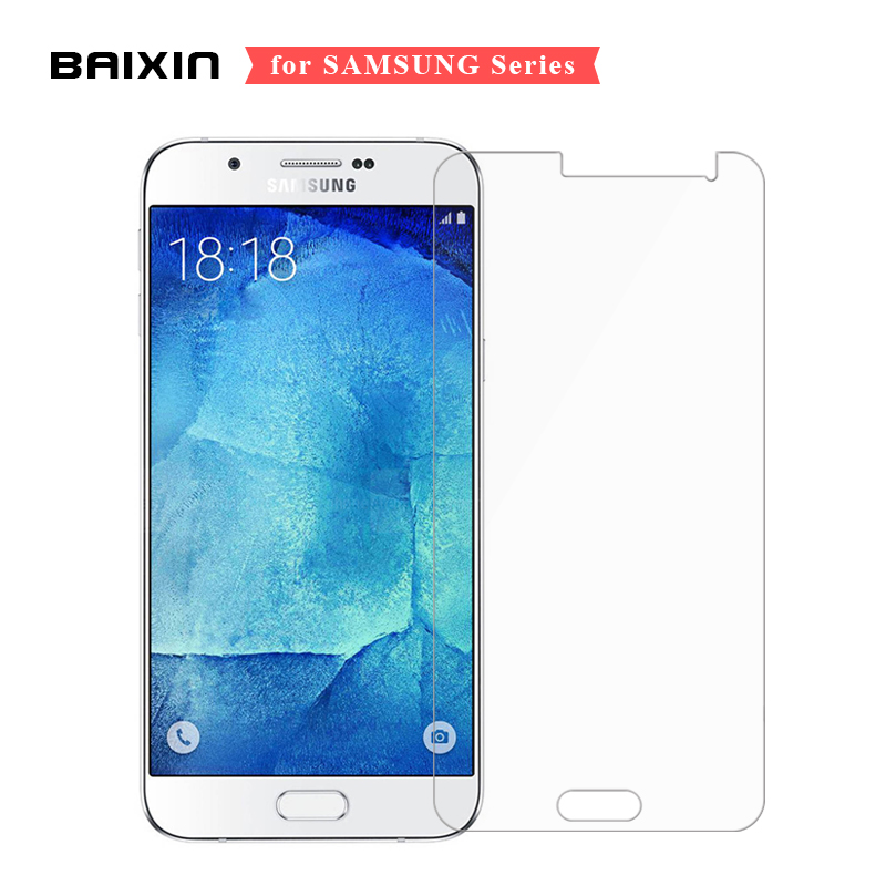 Galleria fotografica Baixin 9H 2.5D Screen Protector For Samsung Galaxy A3 A5 A7 Tempered Glass for Samsung J5 J7 J1 J3 2016 J710 J510 J3 Glass Film