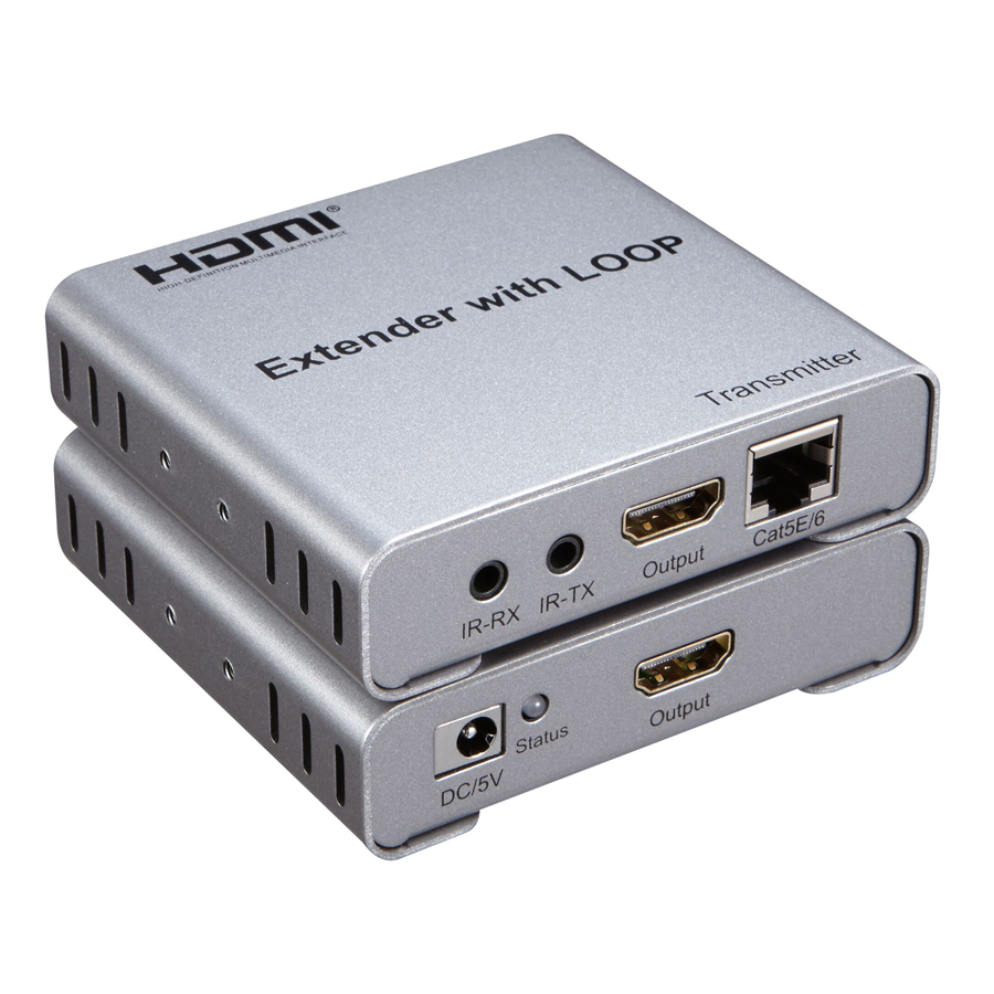 New 1080P HDMI Extender with loop-out up to 50m over single Cat5e/6 network cable with I ...