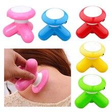 1pc Multi-color Mini Electric Handled Wave Vibrating Massager USB Battery Full Body Massage Wholesale