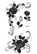 Rocooart HC151-175 Waterproof Fake Tattoo Styling Tools Stickers Snake Pistol Black Feather Temporary Tattoos Body Art Tattoo 62