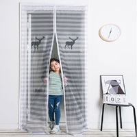 Summer Soft Anti Mosquito Magnetic Screen Door Curtain Mosquito Net Insect Mesh Fly Bug Protect Polyester