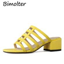купить Bimolter Stripe Slip On Sandals FLat Shoes Women Handmade Vintage Women Shoes Genuine Leather Female Sandals For Lay Beach NB113 по цене 3700.1 рублей