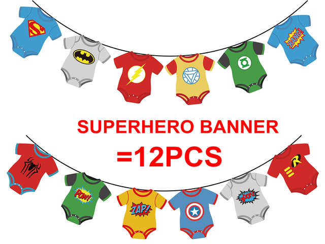 Aliexpress Buy Superhero Avengers Banners Baby Shower Birthday