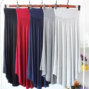 Image 4 - New Casual Elegant Women Cotton Long Skirts Elastic Waist Pleated Maxi Skirts Beach Boho Vintage Summer Skirts Faldas Saia D160