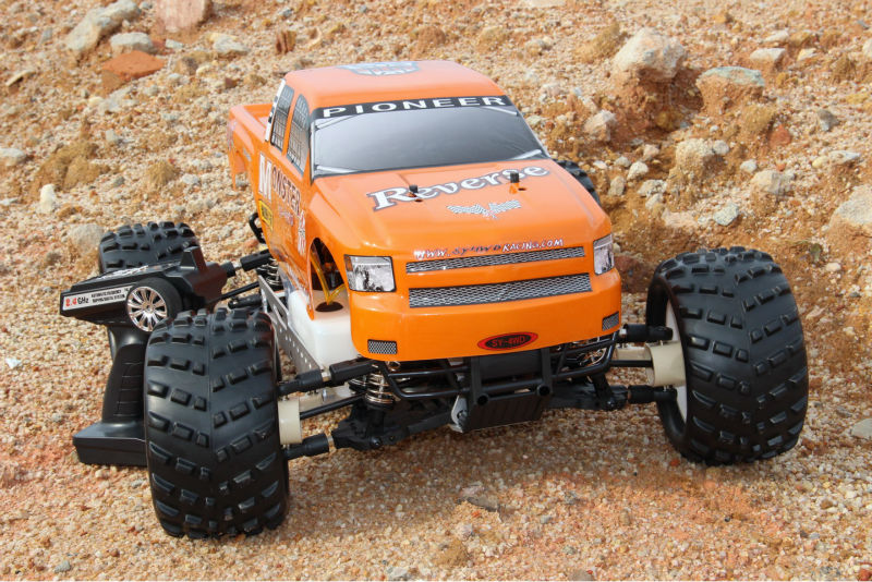 SY 4WD gasoline remote control truck 26cc powerful engin Reverse gear system