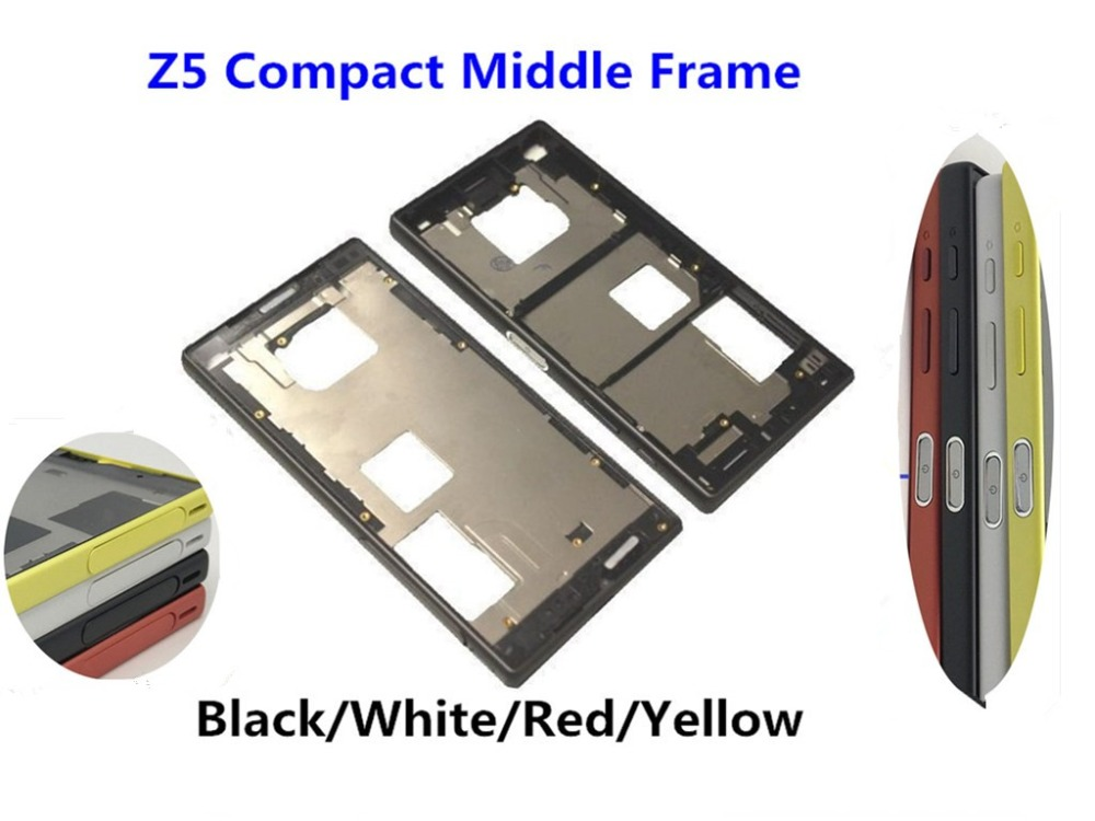 For Sony Xperia Z5 Compact Mini E5803 E5823 Middle Frame Bezel Front Chassis Plate Housing