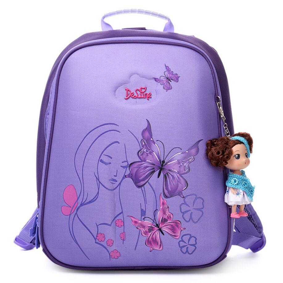 New High Quality Orthopedic Waterproof Children School Bags Girls Primary 1-5 Grade School Backpack Kids Birthday Gift Mochila hot sale high quality ultra light waterproof child school bag lovely children backpack girls backpack grade class 1 6