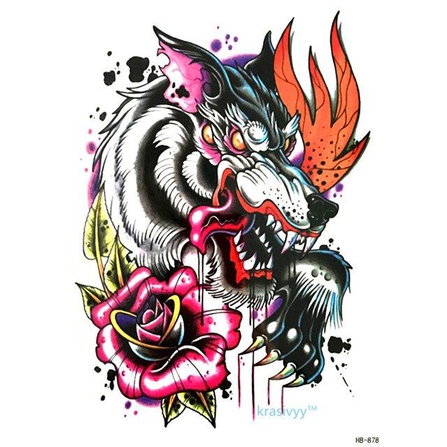 2017 Hot Penjualan Kualitas Tinggi Keren Kecantikan Serigala Stiker