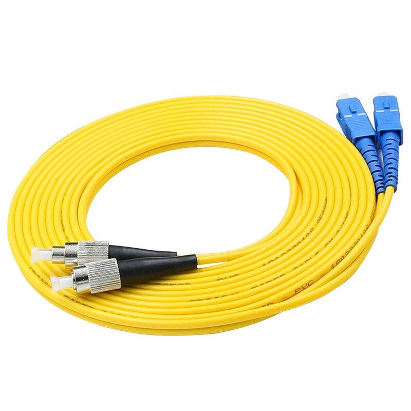 5pcs/bag  SC/UPC-FC/UPC Duplex 2.0mm Single Mode Fiber Optic Patch Cord, SC-FC Cable