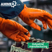 AMMEX GWON Thicken Disposable Glove Nitrile Work Gloves Orange 100pcs Boxed Protective Wear-Resistant Safety Thickening Clean недорого