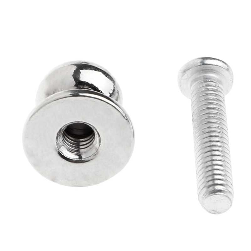 10 Pcs Jewelry Box Gift Case Metal Pull Handle Knobs Silver Tone 12mmx11mm Single Hole