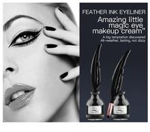 2019 1PCS Black Eyeliner Gel Make Up Waterproof Long-lasting Eye Liner Gel Eye Liner Brush Smoky Cosmetic
