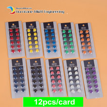 Фотография 48pcs Mounting Magnetic Buttons 10 Colors Dia 10mm 4 White Board Thumbtack Ferrite Magnet in Pot Strong Ceramic Holding Magnet