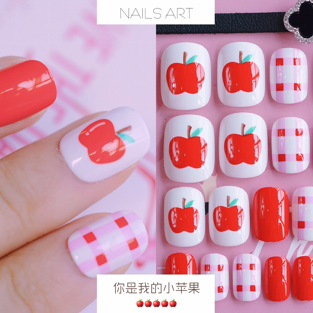 24 Buah French Nail Art Kuku Palsu Akrilik Tips Lengkap Daftar Jbs Nails Wedding 3d A39 Merah Source