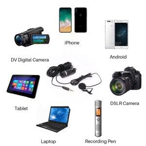 BOYA BY-M1 Lavalier Revers Mikrofon 3,5mm Audio Video Fotografie Aufnahme für iPhone Android Mac Vlog Mic für DSLR Kamera