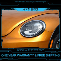 AKD tuning cars Headlight For VW Beetle Headlights LED DRL Running lights Bi Xenon Beam Fog lights angel eyes Auto levels