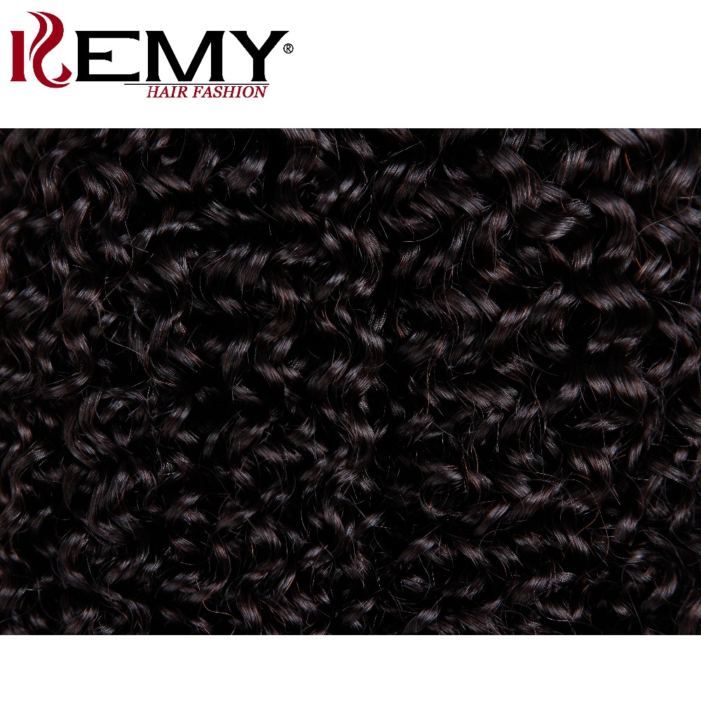 KEMY HAIR Kinky Curly Human Hair Weave Bundles 8-26 Inch Non-Remy Brazilian Hair Weaving Natural Color 2/3 Pieces Free Shipping
