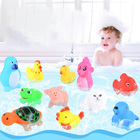 One Dozen Baby Bath Toys High Quality Swimming Magnetic Toy Water Cute Animals Rubber Squeaky Ducky Bath Toys for Children
