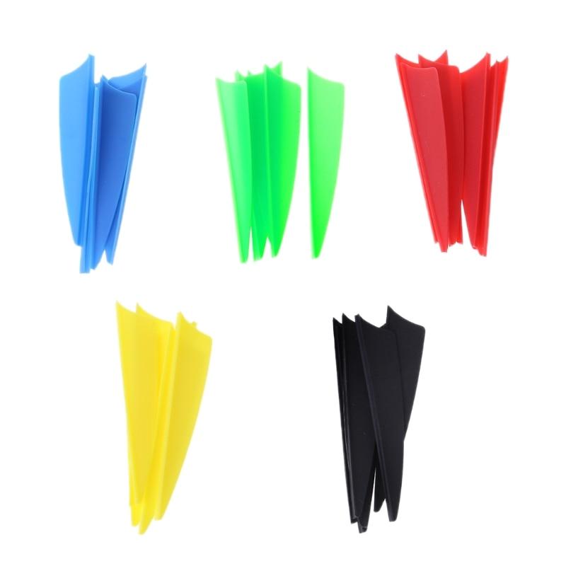 30pcs/bag 2.5 Inch Arrow Feather Archery Vane Fletching Compound Recurve Bow Plumage