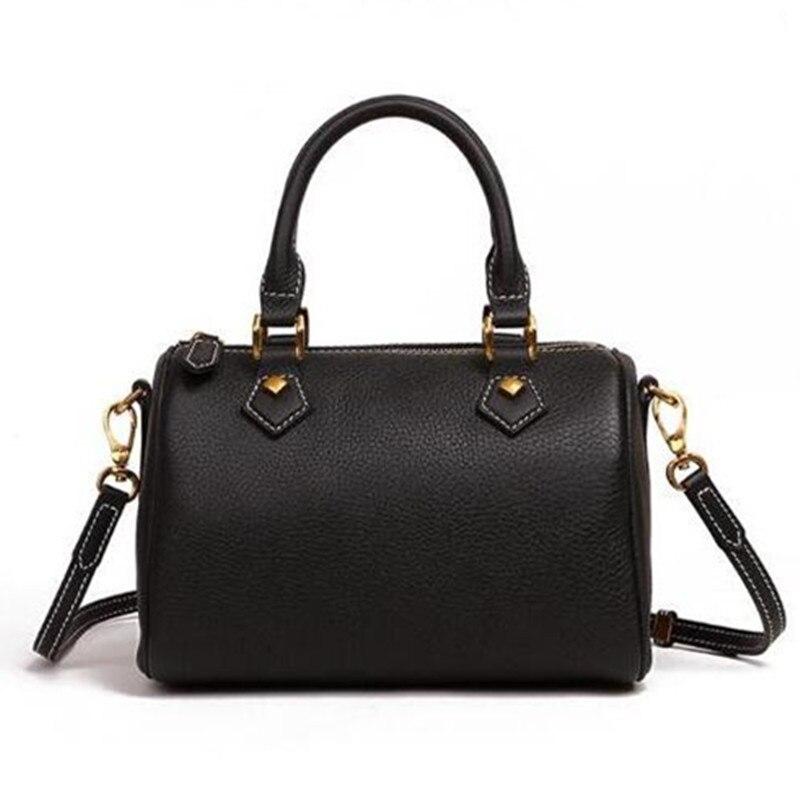 2018 Hot selling new fashion women handbags good quality speedy bag with starp bag free shipping Boston leather handbag original ni pcie 6323 781045 01 selling with good quality