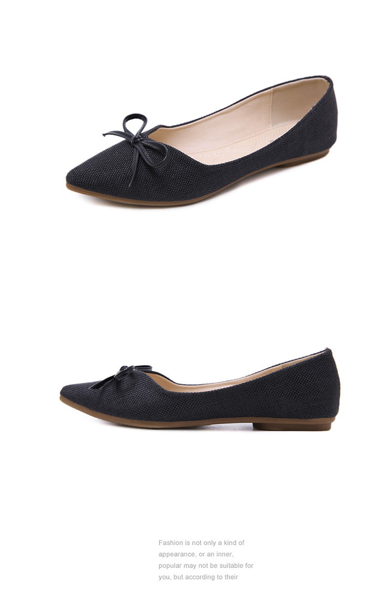 Women Ballerinas Flats Fashion Bowtie Shallow Mouth Slip-on Women Flats Concise Ladies Casual Flat Shoes Ballet Flats For Women (16)
