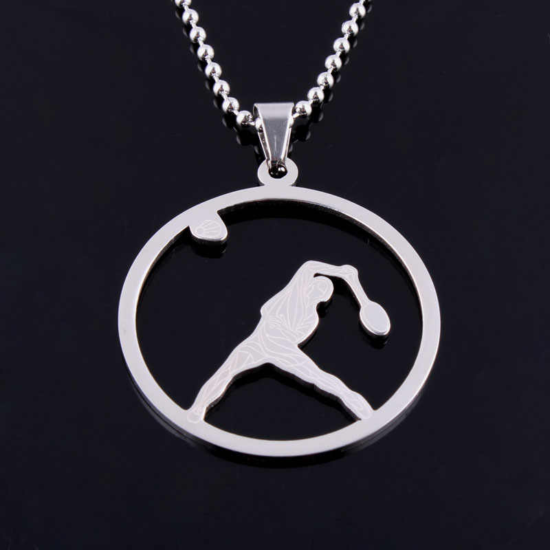 New Fashion Women Men Tennis Sport Round Pendant Medical Stethoscope Necklaces Bead Chain Choker Colar Masculino Jewelry Bijoux